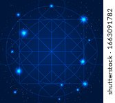 magic geometry sign. alchemy... | Shutterstock . vector #1663091782