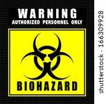 biohazard  icon vector | Shutterstock .eps vector #166309928