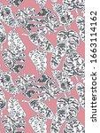 ottoman style tile textured... | Shutterstock . vector #1663114162