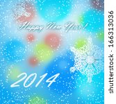merry christmas and happy new... | Shutterstock . vector #166313036