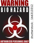 warning bio hazard   Shutterstock .eps vector #166313312