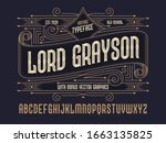old school classic style font...   Shutterstock .eps vector #1663135825