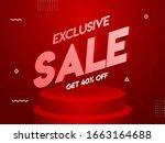 exclusive sale poster design... | Shutterstock .eps vector #1663164688