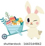 the character of cute rabbit... | Shutterstock .eps vector #1663164862
