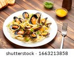 Mussels And Pasta With Seafood...
