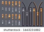 zipper realistic set of... | Shutterstock .eps vector #1663231882
