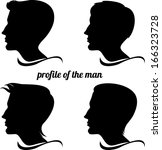 profile of the man | Shutterstock .eps vector #166323728