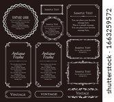 royal monogram frame. hand... | Shutterstock .eps vector #1663259572