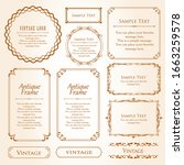 royal monogram frame. hand... | Shutterstock .eps vector #1663259578