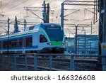 modern high speed train.... | Shutterstock . vector #166326608