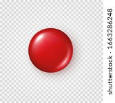 red plastic button isolated on... | Shutterstock .eps vector #1663286248
