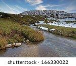 Mountain Stream In An Autumnal...