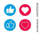set like icons on white...   Shutterstock .eps vector #1663322518