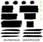 black grunge paint banners  set ...   Shutterstock .eps vector #1663342228