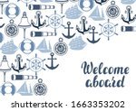 background with nautical... | Shutterstock .eps vector #1663353202