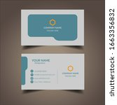 creative business card template....   Shutterstock .eps vector #1663356832