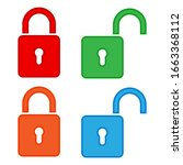 locks set  icons. graphic... | Shutterstock .eps vector #1663368112