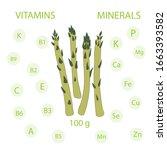 asparagus nutrition hand drawn... | Shutterstock .eps vector #1663393582