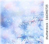 Winter Abstract Blur Backgroun...