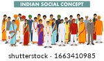 family and social concept.... | Shutterstock .eps vector #1663410985