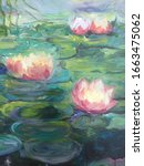 Lotus In Water Impressionism...