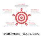 red target with five arrows ... | Shutterstock .eps vector #1663477822