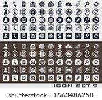 set icon 9 communication sign...   Shutterstock .eps vector #1663486258
