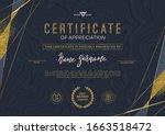 diploma template design. vector ... | Shutterstock .eps vector #1663518472