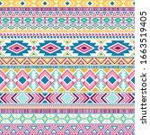 mexican american indian pattern ...   Shutterstock .eps vector #1663519405