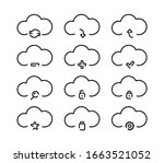 set of cloud storage icons.... | Shutterstock .eps vector #1663521052