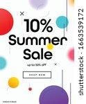 10  off summer season sale... | Shutterstock .eps vector #1663539172