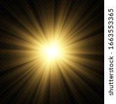 light abstract glowing bokeh... | Shutterstock .eps vector #1663553365