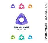 colorful triangle logo design... | Shutterstock .eps vector #1663560478