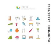 set of vector line icons of... | Shutterstock .eps vector #1663575988