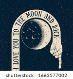 i love you to the moon and back....   Shutterstock .eps vector #1663577002