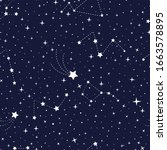 vector stars and constellations ... | Shutterstock .eps vector #1663578895