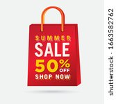 vector summer sale bag template ...   Shutterstock .eps vector #1663582762