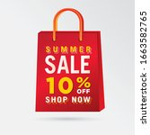 vector summer sale bag template ...   Shutterstock .eps vector #1663582765