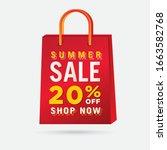 vector summer sale bag template ...   Shutterstock .eps vector #1663582768