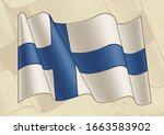 vintage flag of finland....   Shutterstock .eps vector #1663583902