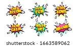 comic text speech bubble in...   Shutterstock .eps vector #1663589062