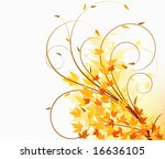 floral abstract vector... | Shutterstock .eps vector #16636105