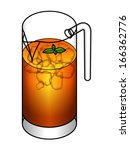 a large jug of iced tea with a... | Shutterstock .eps vector #166362776