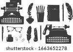 vector illustration of writer... | Shutterstock .eps vector #1663652278