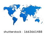 bluish 3d map of the world | Shutterstock . vector #1663661488