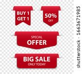 3d red bookmark tag sale... | Shutterstock .eps vector #1663671985