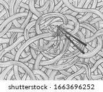 vector illustration of noodles... | Shutterstock .eps vector #1663696252