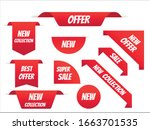 new tag ribbon and banner... | Shutterstock .eps vector #1663701535