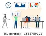 vector illustration robot ... | Shutterstock .eps vector #1663709128