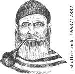 vector illustration of old... | Shutterstock .eps vector #1663717882